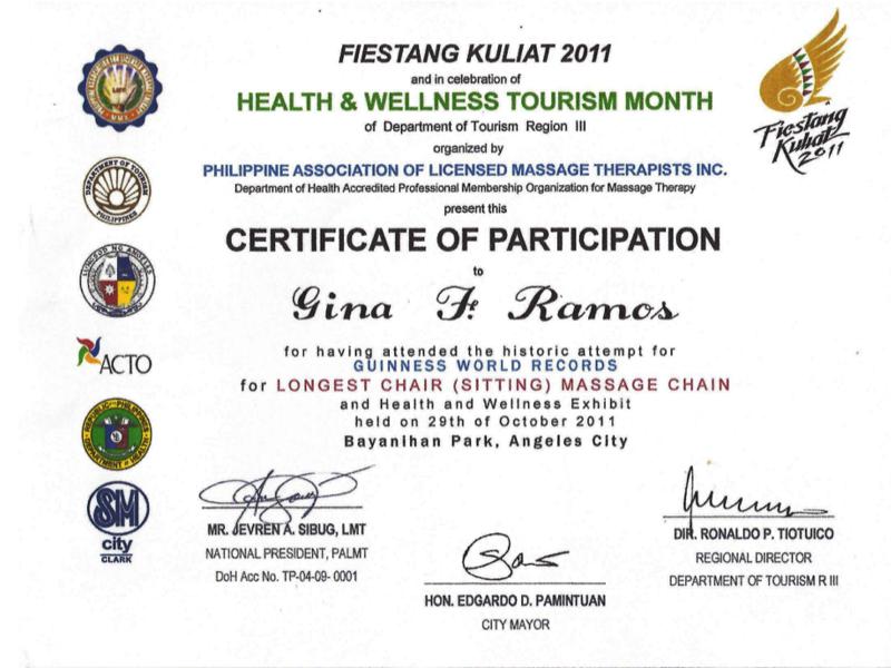 Philippinische Massagen Gina Joss Holistic Home Massage